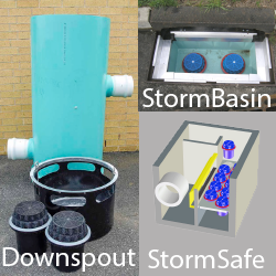 Fabco Industries Stormwater Products, StormBasin, StormSafe and Downspout Filter